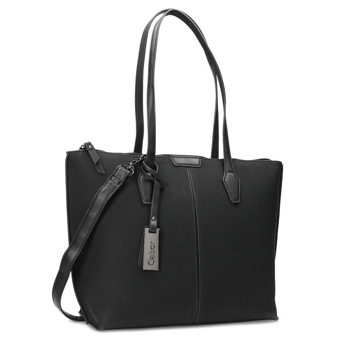 Černá kabelka s přívěskem gabor-bags, černá, 961-6044 - 13
