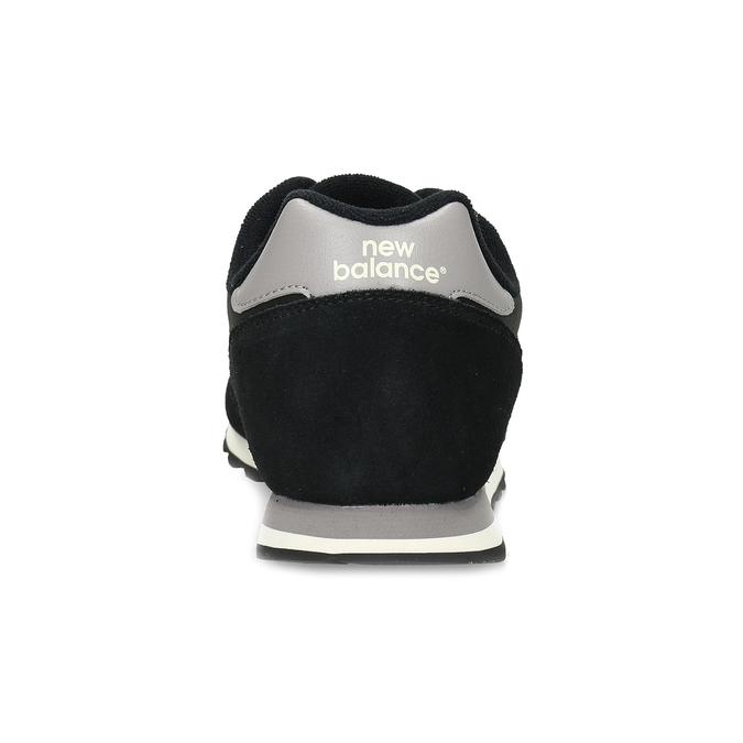 Černé pánské tenisky z broušené kůže new-balance, černá, 803-6137 - 15