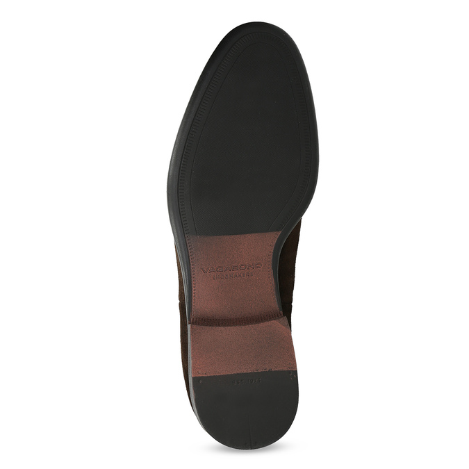 Hnědá kožená pánská Chelsea obuv vagabond, hnědá, 813-4010 - 18