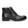 Pánská kotníčková obuv černá lesklá bata, černá, 896-6720 - 19