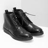 Černá kožená kotníčková pánská obuv bata, černá, 894-6721 - 26