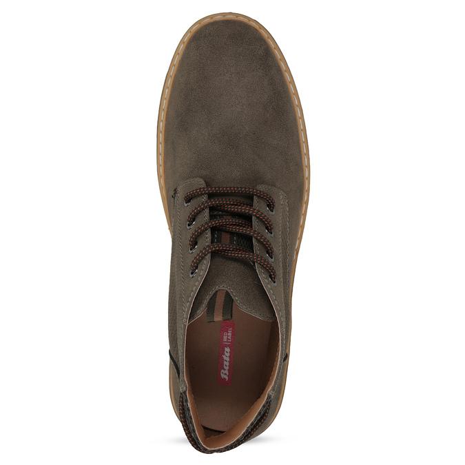 Kotníčková pánská obuv s prošitím bata-red-label, hnědá, 821-4605 - 17