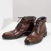 Pánská kotníková obuv hnědá lesklá bata, hnědá, 896-3720 - 16