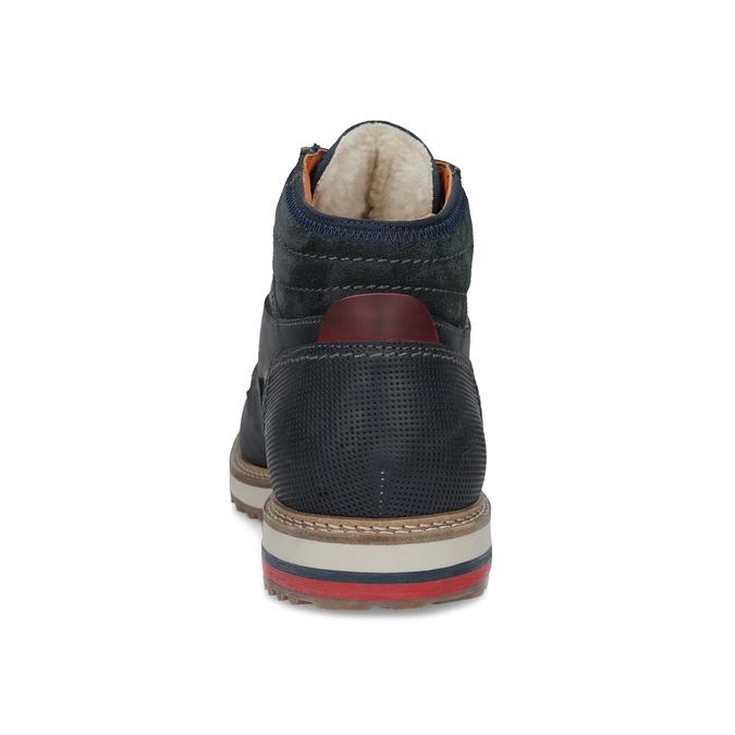 Kožená kotníková pánská zimní obuv bata, modrá, 896-9716 - 15
