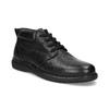 Pánská kožená kotníčková obuv comfit, černá, 894-6701 - 13