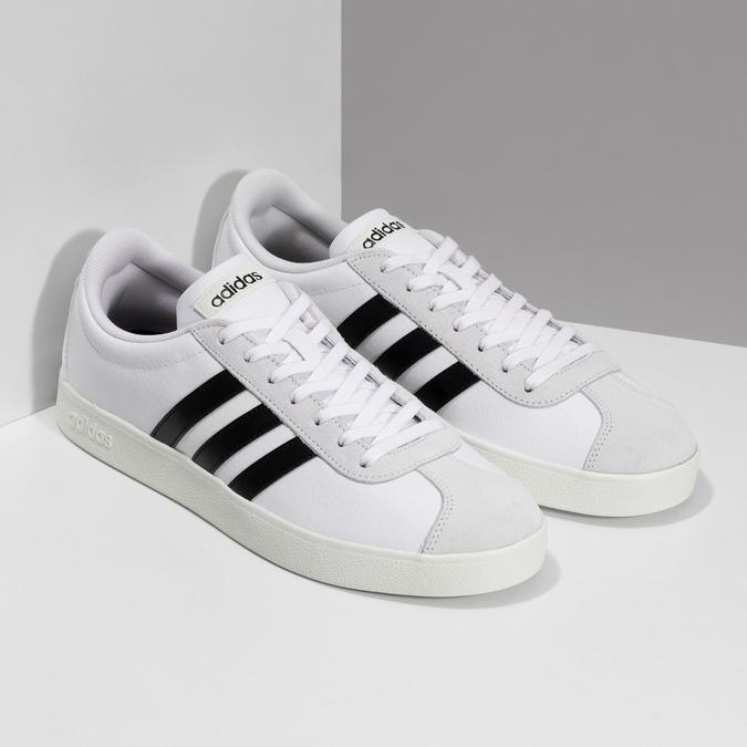 Bílé pánské ležérní tenisky adidas, bílá, 801-1146 - 26