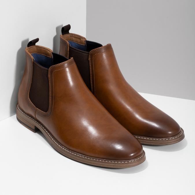 Pánská hnědá Chelsea obuv bata-red-label, hnědá, 821-3611 - 26