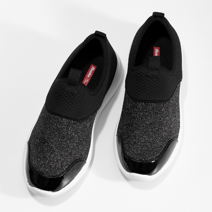 Dámské černé ležérní tenisky bata-red-label, černá, 549-6612 - 16