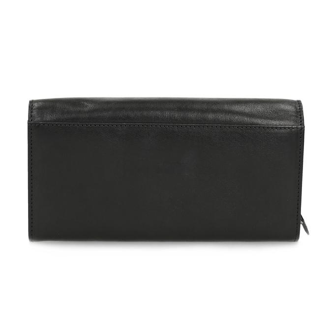 Černá dámská kožená peněženka bata, černá, 944-6216 - 16