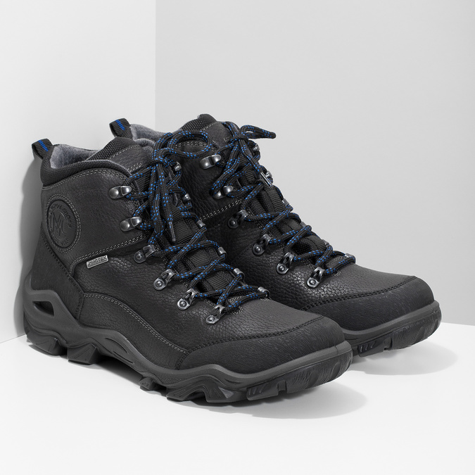 Pánská kožená outdoor obuv weinbrenner, černá, 896-6706 - 26