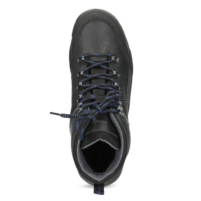 Pánská kožená outdoor obuv weinbrenner, černá, 896-6706 - 17