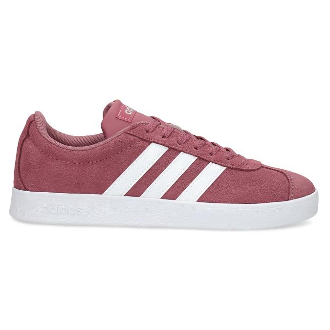 Dámské fialové kožené tenisky adidas, červená, 503-5379 - 19