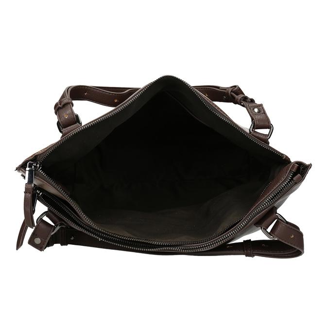 Hnědá kabelka s metalickými odlesky bata, hnědá, 961-8457 - 15