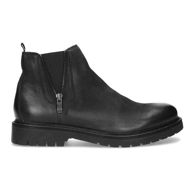 Kožená pánská zimní obuv v Chelsea stylu bata, černá, 896-6714 - 19