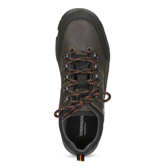Pánská kožená obuv s masivní podešví weinbrenner, hnědá, 846-4806 - 17