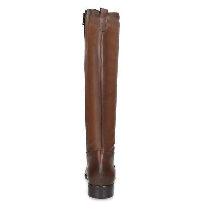 Kožené hnědé dámské kozačky bata, hnědá, 594-4675 - 15