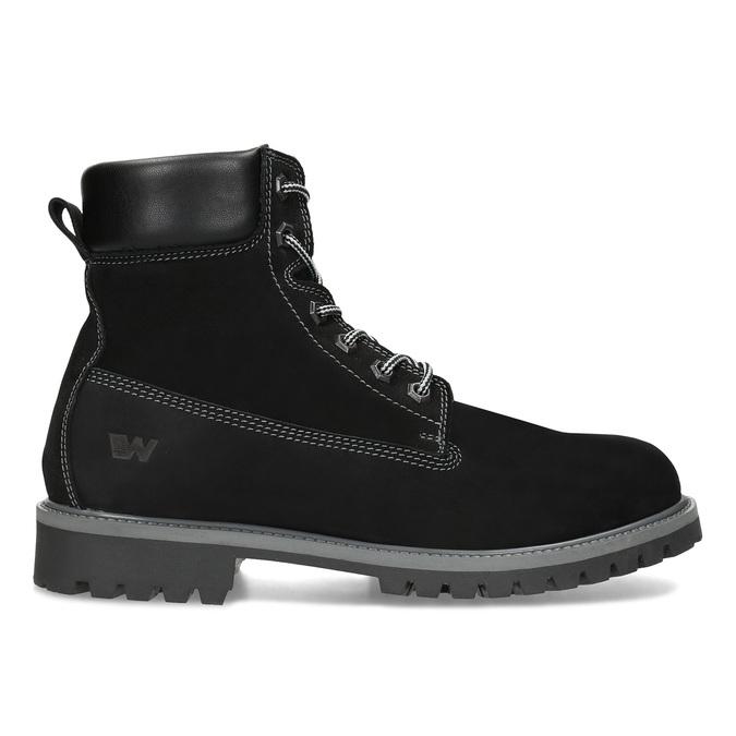 Pánská kožená kotníčková obuv s prošitím weinbrenner, černá, 896-6733 - 19