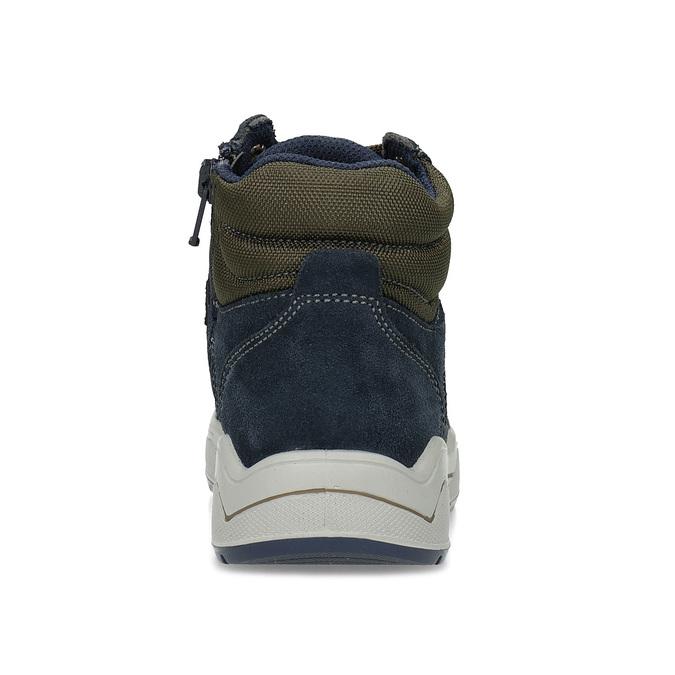 Kožená kotníčková obuv chlapecká mini-b, modrá, 493-9618 - 15