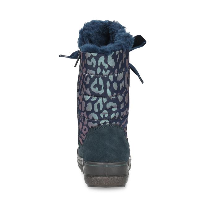 Dívčí sněhule s leopardím potiskem mini-b, modrá, 299-9617 - 15