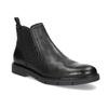 Pánské kožené Chelsea Boots černé flexible, černá, 894-6714 - 13