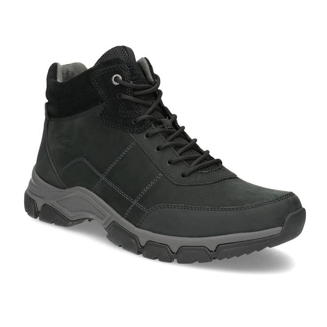 Pánská kotníčková obuv kožená černá camel-active, černá, 826-6001 - 13