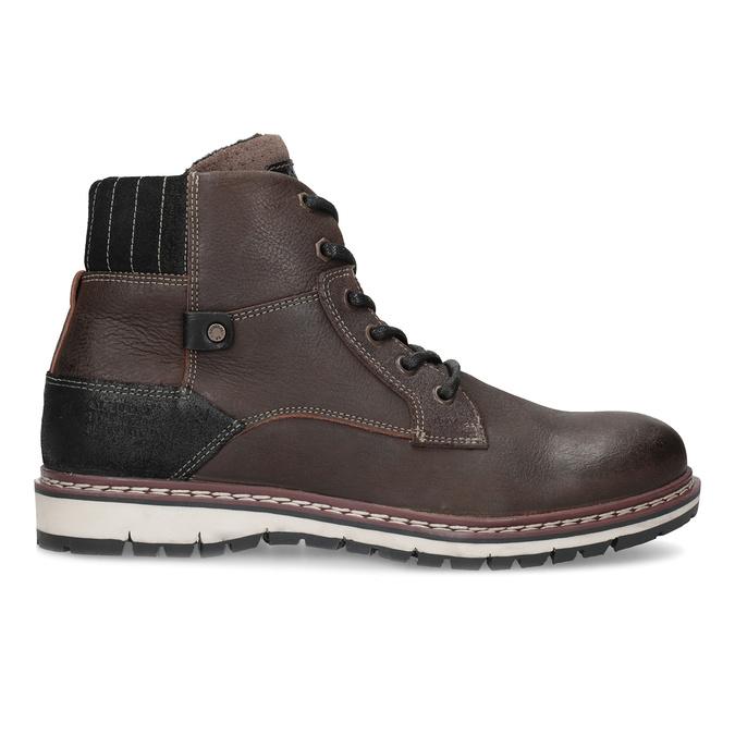 Kotníčková kožená pánská obuv bata, hnědá, 896-4666 - 19