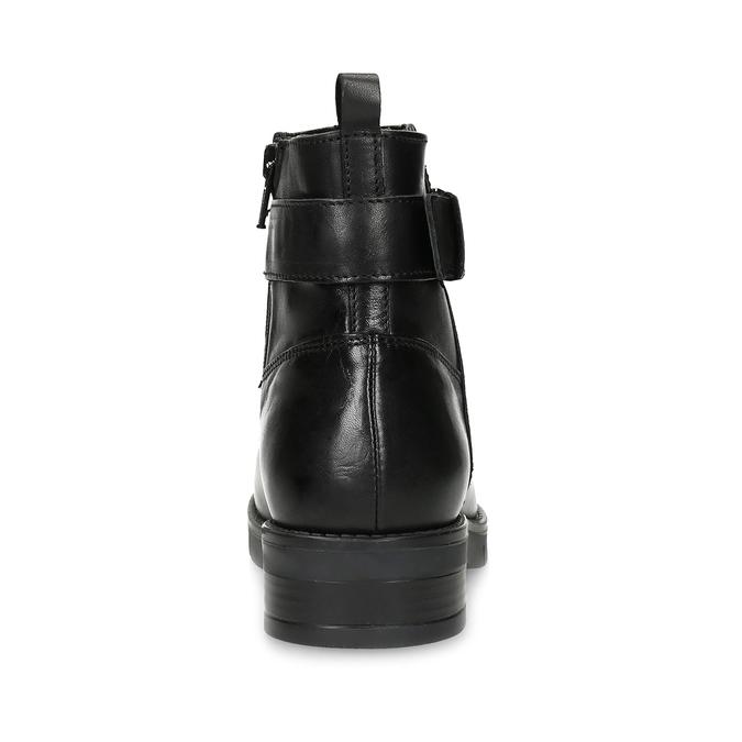Kožená dámská kotníčková obuv černá flexible, černá, 594-6158 - 15