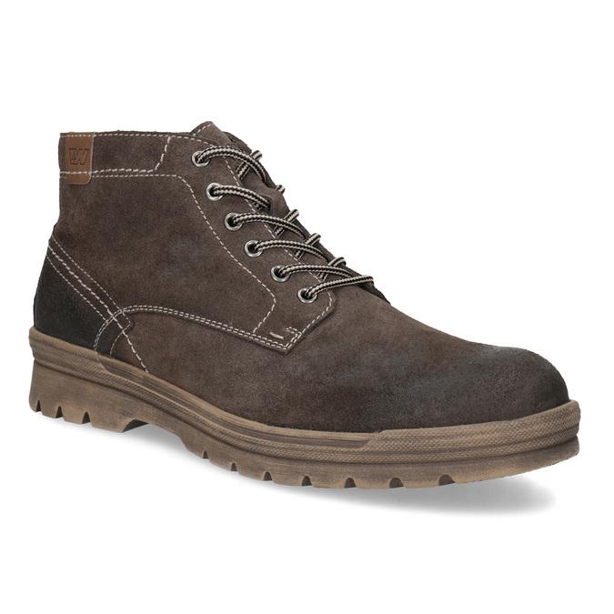 Pánská kožená kotníčková obuv weinbrenner, hnědá, 896-4108 - 13