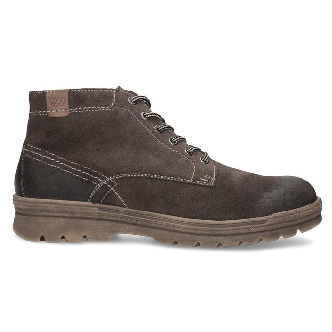Pánská kožená kotníčková obuv weinbrenner, hnědá, 896-4108 - 19