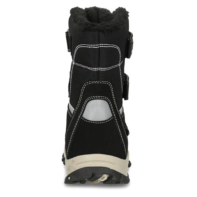 Černá dětská zimní obuv s prošitím mini-b, černá, 491-6667 - 15