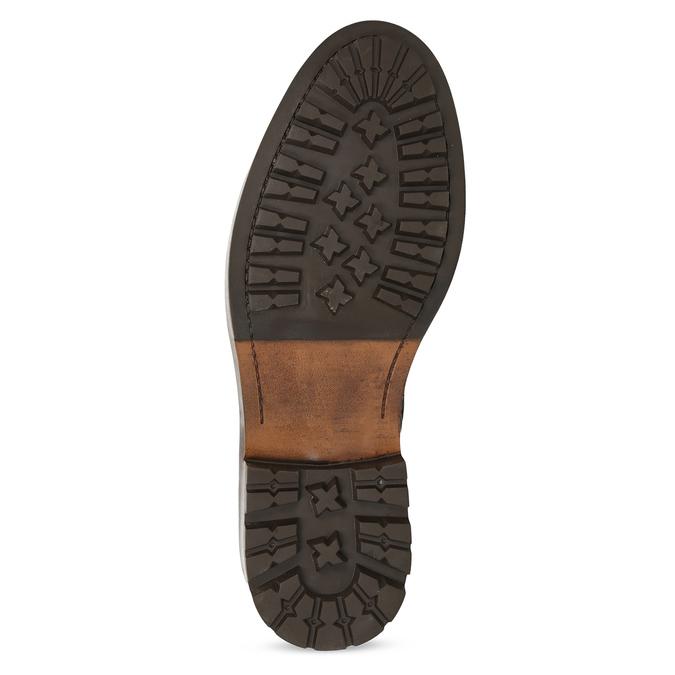 Hnědá pánská kožená kotníčková obuv bata, hnědá, 896-3731 - 18