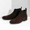 Hnědá kožená pánská Chelsea obuv vagabond, hnědá, 813-4010 - 16