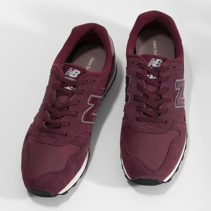 Vínové pánské tenisky z broušené kůže new-balance, červená, 803-5141 - 16