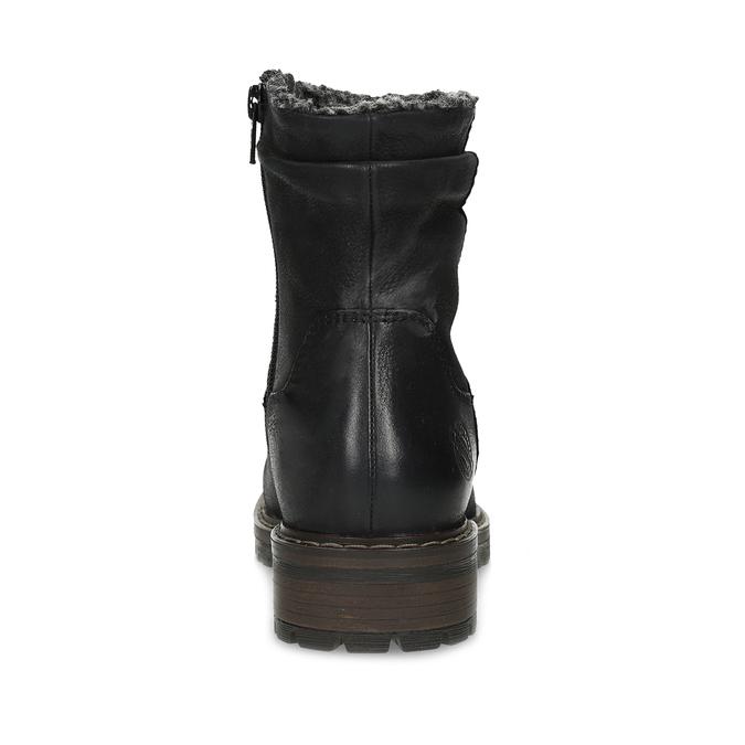 Kožené dámské zimní kozačky se zateplením bata, černá, 596-6703 - 15
