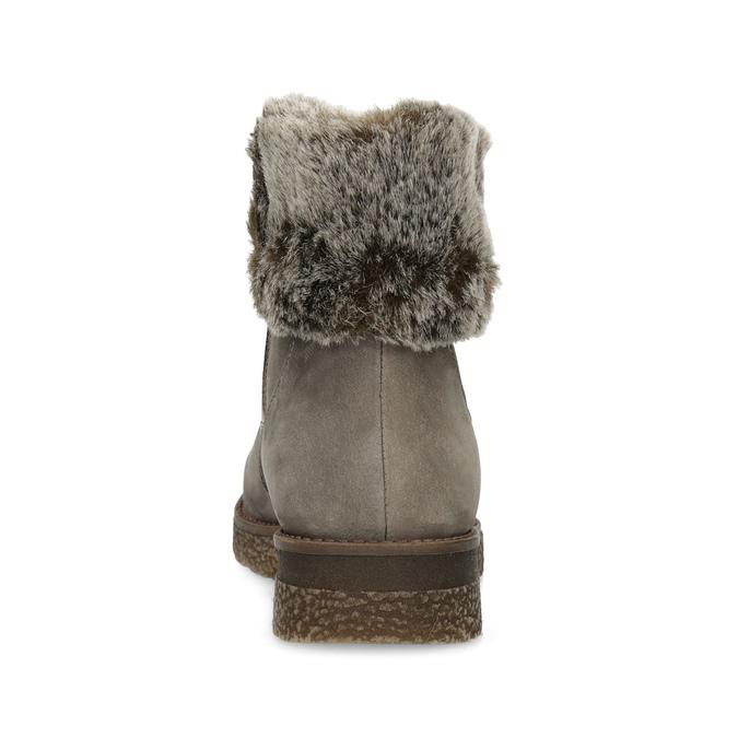 Dámská kožená zimní obuv s kožíškem bata, hnědá, 596-8704 - 15