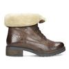 Dámská kožená kotníčková obuv s kožíškem bata, hnědá, 694-4669 - 19