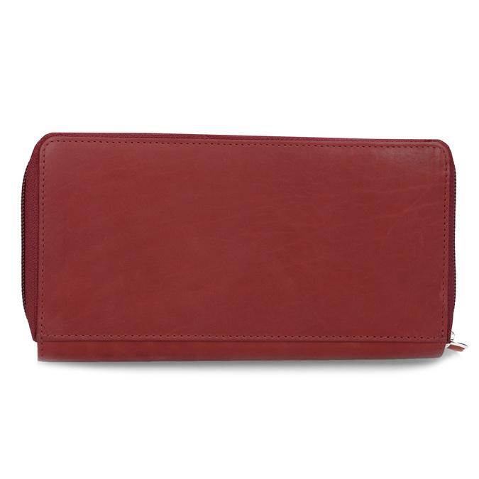 Kožená dámská peněženka s mandalou červená bata, červená, 944-5615 - 16