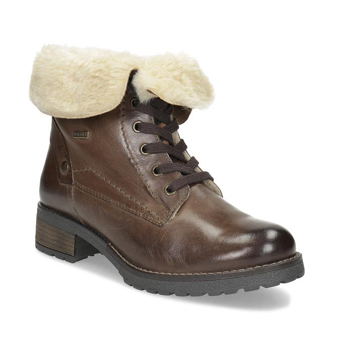 Baťa Dámská kožená kotníčková obuv s kožíškem - Klubové ceny  455769a188