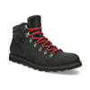 Pánská kožená kotníková obuv s červenými tkaničkami sorel, černá, 826-6009 - 13