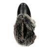 Černé dámské kozačky s kožíškem a přezkami bata, černá, 691-6642 - 17