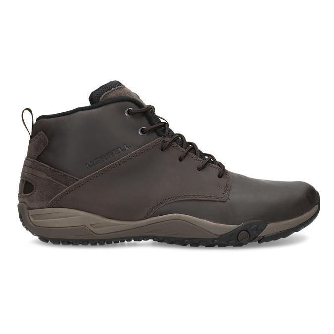 Kotníčková hnědá kožená pánská obuv merrell, hnědá, 806-4102 - 19