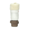Bílé kožené kozačky na stabilním podpatku weinbrenner, bílá, 696-1667 - 15