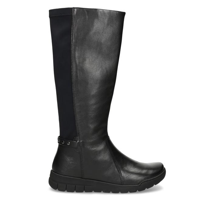 Dámské kožené černé kozačky bata, černá, 594-6684 - 19