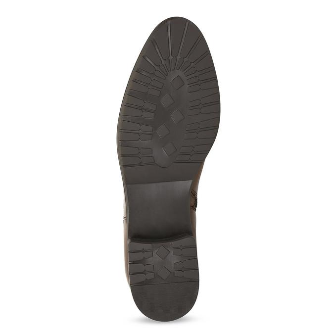 Hnědé kožené dámské kozačky bata, hnědá, 594-4676 - 18
