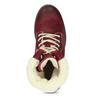Vínová kožená kotníčková dámská obuv weinbrenner, červená, 696-5667 - 17