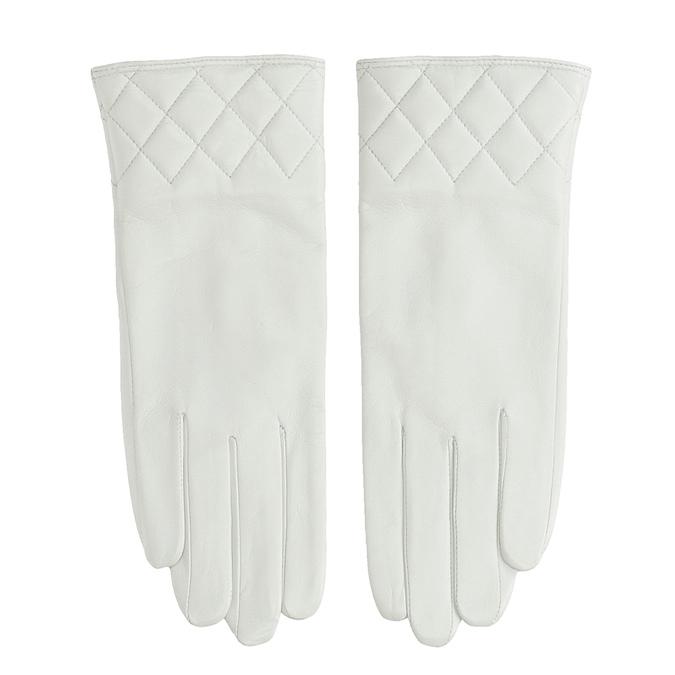 Kožené dámské rukavice bílé bata, bílá, 904-1131 - 26