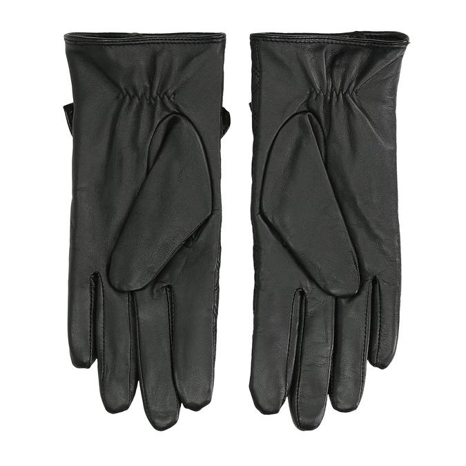 Dámské kožené rukavice prošívané bata, černá, 904-6139 - 16