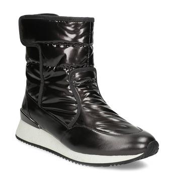 Dámské sněhule metalické černé bata, černá, 599-6626 - 13