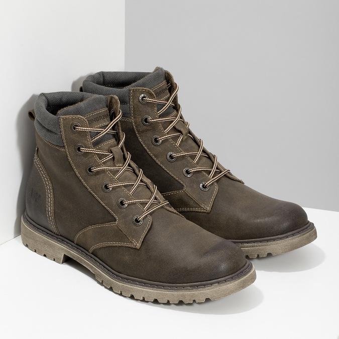 Hnědá kožená pánská zimní obuv weinbrenner, hnědá, 896-4693 - 26
