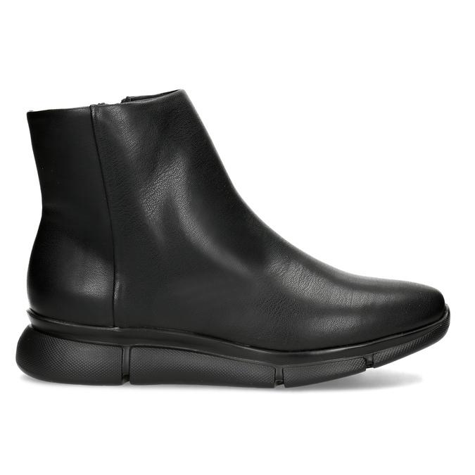 Dámská černá kotníčková obuv hladká bata-b-flex, černá, 591-6636 - 19